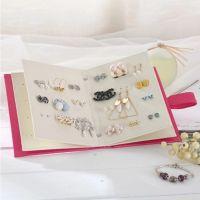 耳钉耳环收纳书本 耳环包装盒韩国创意首饰品收纳盒 定制耳钉盒