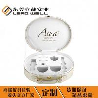 东莞品牌中高端椭圆型化妆品套盒化妆品皮盒包装定制厂家