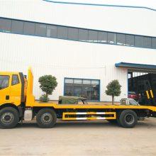解放J6小三轴挖机平板拖车价格是多少