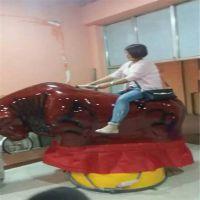 北京游艺公司商演活动斗牛机儿童玩具疯狂刺激翻转斗牛机玻璃钢材质