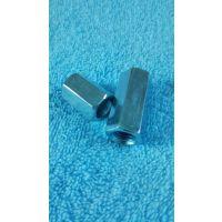 专业生产低碳钢镀锌加长正反牙调节螺母 倒顺牙连接帽