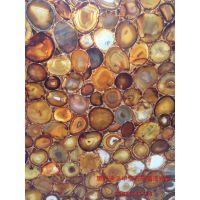 惠州迪派半宝石板材 虎眼石 木化石 玛瑙板材 天然透光板