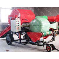 牧草青贮打捆机 干湿草料打包机 打捆包膜机厂家