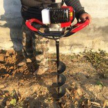 新型手提式单人挖坑机 手提式螺旋汽油打坑机 便携式汽油挖坑机