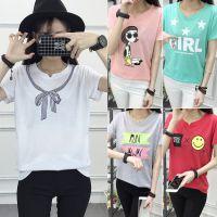 跑量女装短袖T恤货源 韩版杂款女装短袖货源库存T恤货源