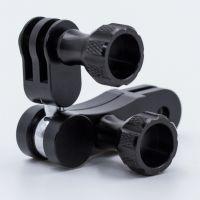 批发GoPro3+4/5 小蚁铝合金配件 魔术手万向接头 转接头加工订做