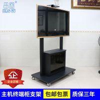 晶固JG90-G单双屛液晶电视移动支架60-98寸平板电视落地推车视听机箱柜