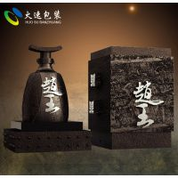 火速包装 浓香型白酒包装 手工木质酒盒 创意酒瓶设计