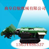 毫州履带式开沟机 28马力柴油电启动回填机 启航自走式施肥机厂家