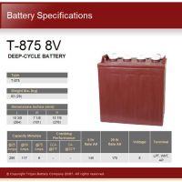 Trojan邱健T-875电池高尔夫球车 旅游观光车电瓶北京总代销售