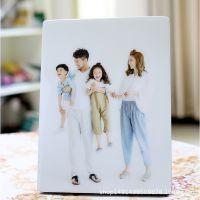 照片定制大韩水晶亚米奇摆台制作婚纱照生活照放大烤瓷相片框