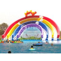 龙之盈游乐设备厂家直销 儿童水上乐园设备 充气滑梯 彩虹滑梯