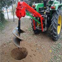 水泥杆埋桩打坑机图片 水泥杆打眼机 富兴硬地大直径钻坑机价格