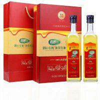 润心红花茶油500ML×2 低温物理冷榨 欧盟品质 100%纯山茶油 孕妇宝宝专用油