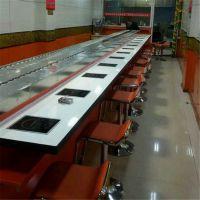 自动旋转餐桌 旋转转转小火锅 中式火锅设备定制厂家 多多乐家具