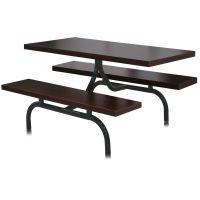 长春钢木餐桌椅,食堂餐桌椅,快餐桌椅
