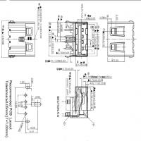 USB 2.0短体母座11.7mm三支脚A母90度弯脚插板三脚DIP直边黑胶
