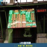铸造厂电炉熔炼数据显示LED点阵大屏幕