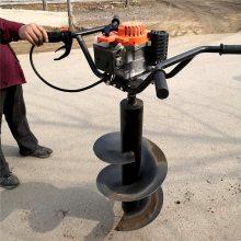 手提汽油植树挖坑机 果园施肥用挖坑机 乐民牌
