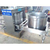 正康供应不锈钢双桶豆干压榨机 豆豉 酱菜压榨设备 可定制
