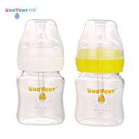 舒婴(sucvent) 晶钻宽口玻璃恒压专利防呛防胀气无泡奶瓶 白色120ml
