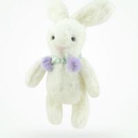 站资毛绒玩具PP棉填充30CM白色小兔子深圳实力厂家直销