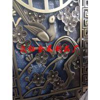 云南加工定制纯铜双面浮雕镂空屏风隔断