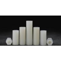尼龙六角双通 塑料支撑柱隔离柱 白色塑胶绝缘隔离间隔柱母M3M4