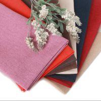 耐磨加厚亚麻沙发布料批发 素色纯色沙发套抱枕靠垫车套软包布