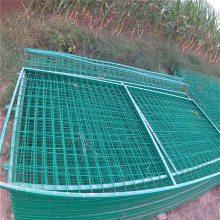 桃型柱护栏网 三角折弯园林隔离栅 Y型柱防御围网
