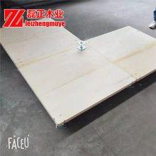 地台板杨木车展地台板板面平整光滑磊正木业