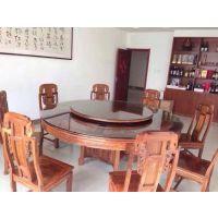 2米圆台红木餐桌餐台价格批发刺猬紫檀名琢世家品牌