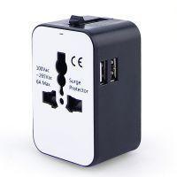 雷神正品双USB全球通多功能转换插座欧标美标奥标英标一体插座10A 万用孔多国转换器