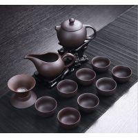 粗陶便携式旅行茶具办公礼品批发、陶瓷茶具套装定制LOGO