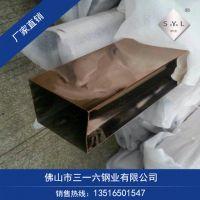 磨砂面316不锈钢矩形管40X100方矩管40X110扁管现货