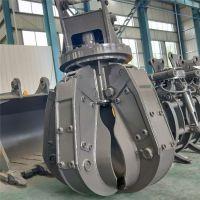 厂家定做神钢250挖机属具夹具 5瓣旋转夹具 挖机配件商