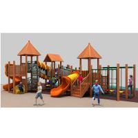 上海以伦游乐供应进口木质组合滑梯YL18-18503幼儿园课桌椅,玩具架,书架,收纳箱等