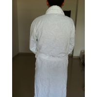 三好毛巾厂家直销全棉吸水提花割绒浴袍