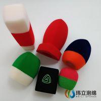 东莞厂家定制异形麦克风海绵套 话筒防风罩