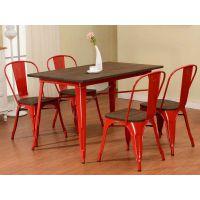 海德利咖啡厅简约现代实木桌子酒吧桌子实木家具餐厅餐桌椅组合简易家用餐桌