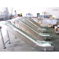厂家定做白色pvc皮带式上料提升输送机鲁宁品质