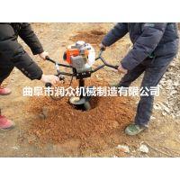 植树整地用四轮挖坑机 多种型号挖洞机 液压传动挖坑机 润众
