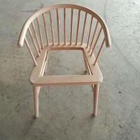 中式实木餐椅白胚现代简约北欧休闲椅子白茬酒店餐厅专用椅子白茬