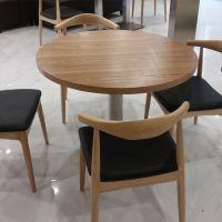 田园湘菜馆餐桌实木桌子定做茶餐厅板式餐桌供应深圳餐厅家具工厂