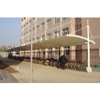 定制户外避雨停车棚PVDF景观张拉摩托自行电动车遮阳雨蓬