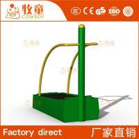 广州牧童定制社区户外不锈钢跑步机健身器材 室外跑步机生产厂家
