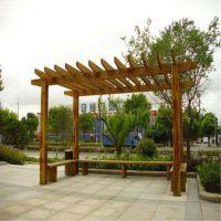 仿木纹钢筋混凝土廊架 景观葡萄架 仿木纹水泥架子