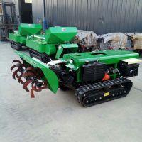 自走式链轨式小型拖拉机 履带开沟施肥机 自走式旋耕机