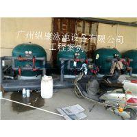 天津50*25标准大型泳池泳池水处理设备广州纵康