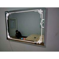 弘润透光带灯镜子浴室卫生间镜子LED灯镜壁挂洗手间挂墙卫浴镜 暖光横挂